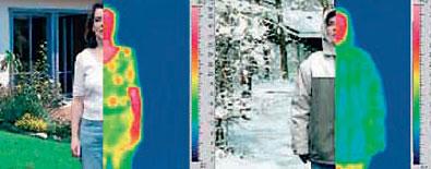 Распределение температуры человеческого тела в инфракрасном спектре