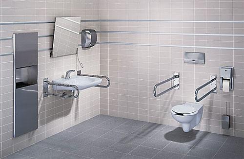 Пример гигиенической комнаты, оборудованной для инвалидов