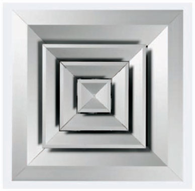 Квадратный многодиффузорный плафон