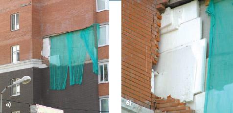 Теплозащита наружных стен зданий с облицовкой из кирпичной к.