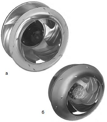 Малошумные колеса: а) R4D [2]; б) RH…G [3]