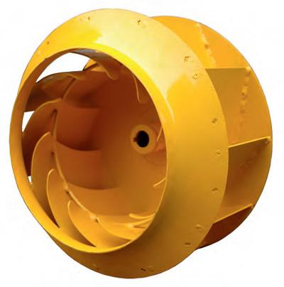 Фото входа в рабочее колесо со специальной формой входной части лопаток для снижения тонального шума на входе вентилятора