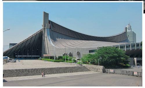 Большой крытый стадион The Yoyogi National Gymnasium, Токио