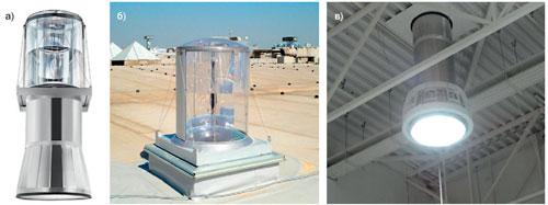 Гибридная система освещения на основе полого оптического трубчатого световода