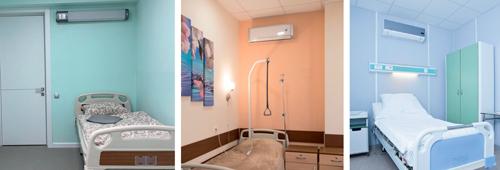 Сплит-системы над кроватью пациента